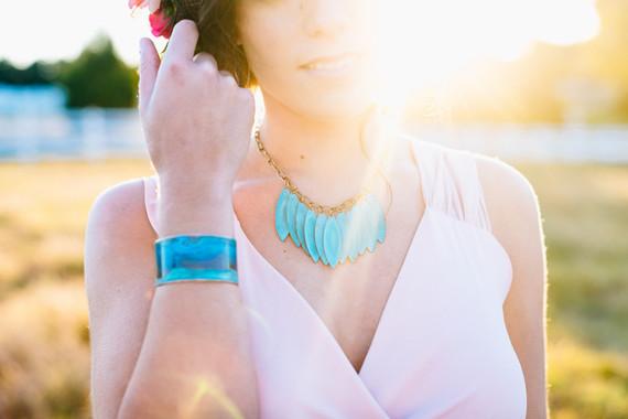 Turquoise bridal accessories