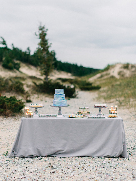 Seaside dessert table