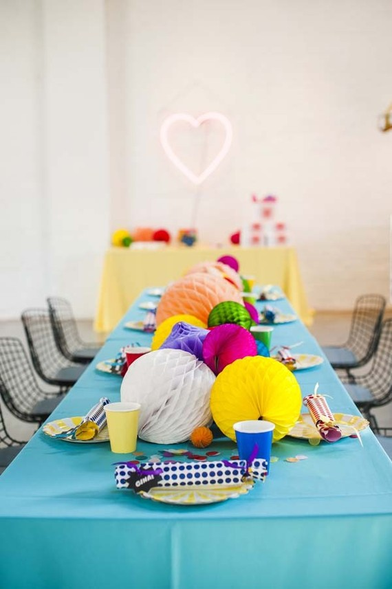 Rainbow baby shower by Color Pop Events