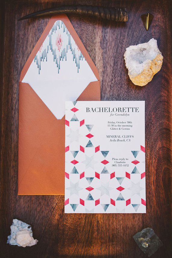 Modern bachelorette party invitation