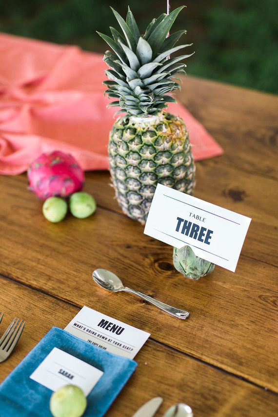 Whimsical table numbers