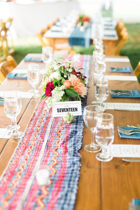 Whimsical wedding table
