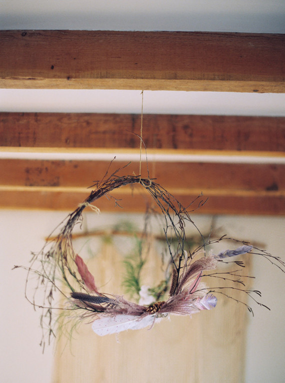 DIY bohemian wreath