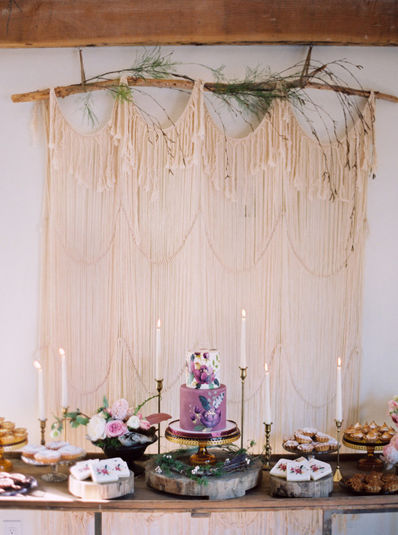 Bohemian purple baby shower baby shower ideas 100 for Baby shower modern decoration
