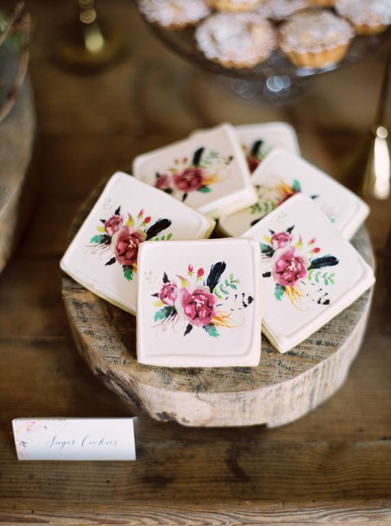 bohemian floral cookies