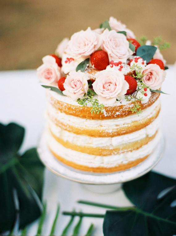 Summer naked cake