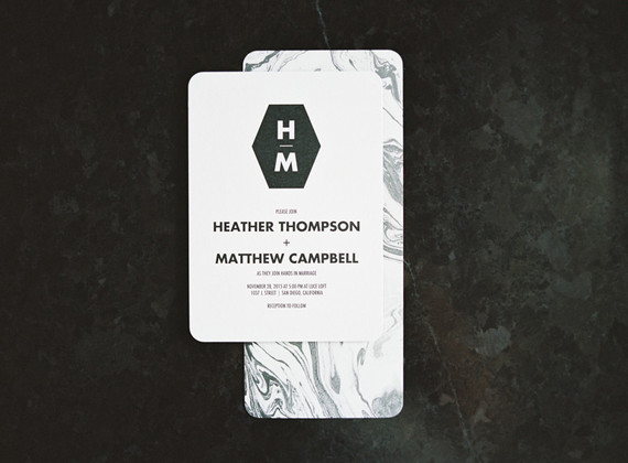 Modern rehearsal dinner invitation
