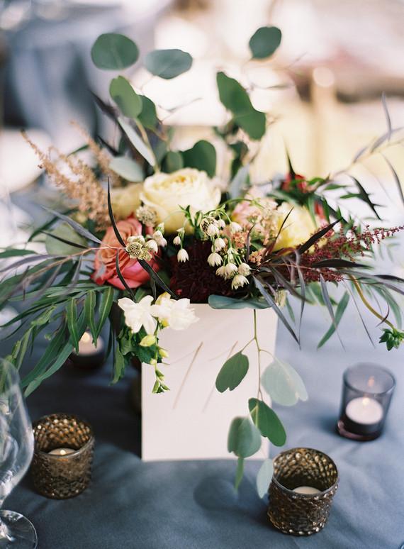 Rustic fall wedding florals