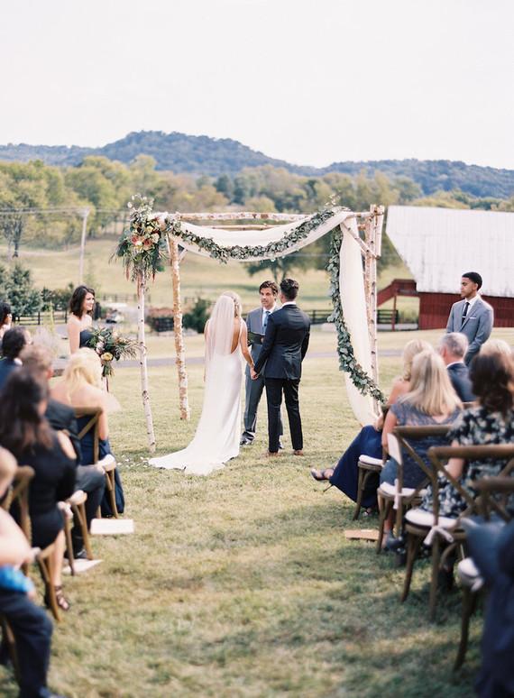 Rustic Tennessee wedding ceremony