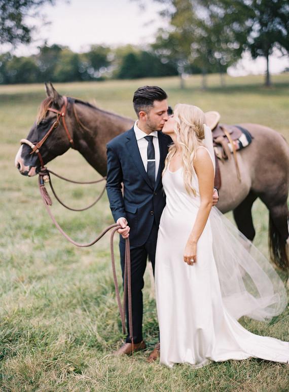 Rustic Tennessee wedding portrait