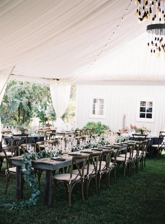 Rustic fall wedding reception