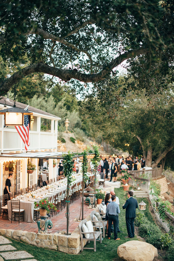 Intimate backyard Santa Barbara wedding