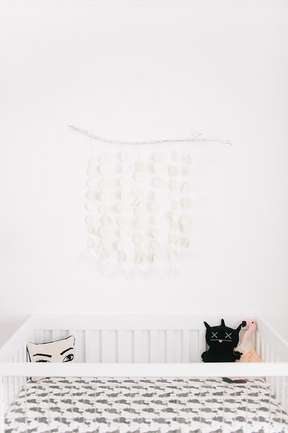 glamorous black and white girls nursery