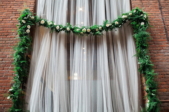 Ceremony wedding backdrop