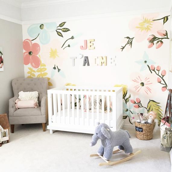 Floral pastel nursery