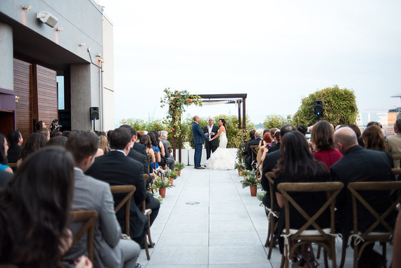 Rustic hollywood ceremony
