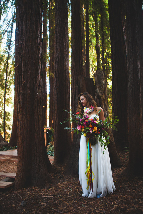 Colorful DIY woodsy wedding