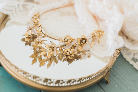 Mignonne Handmade gold crown