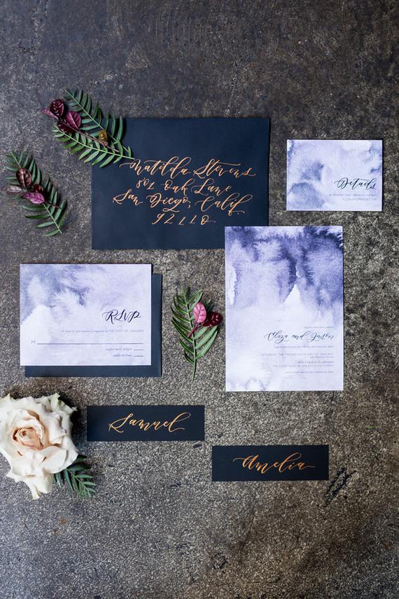 Elegant watercolor invitation