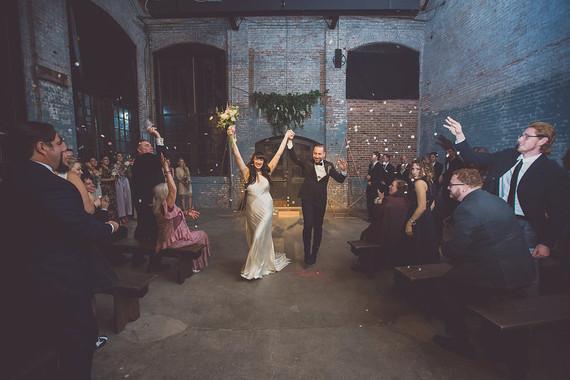 Whimsical wedding ceremony