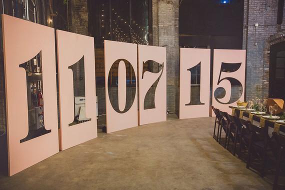 Wedding date signage