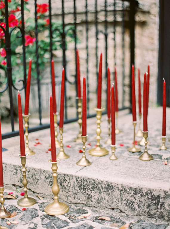 Vintage wedding candles