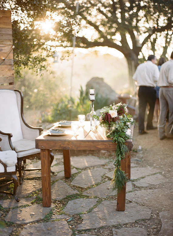 Rustic farm wedding tablescape