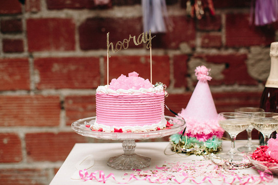 Valentine's Day party dessert table
