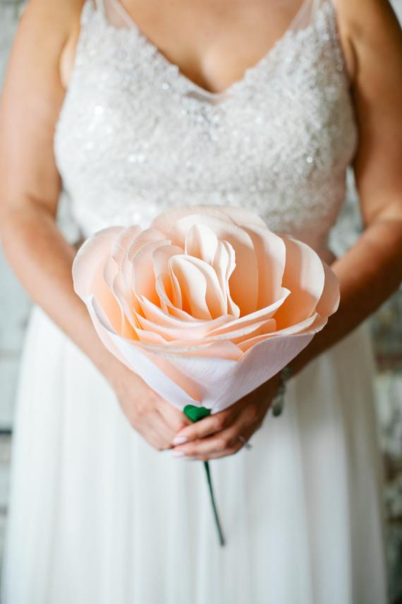 Crepe paper wedding bouquet