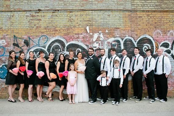 Brooklyn wedding party portrait