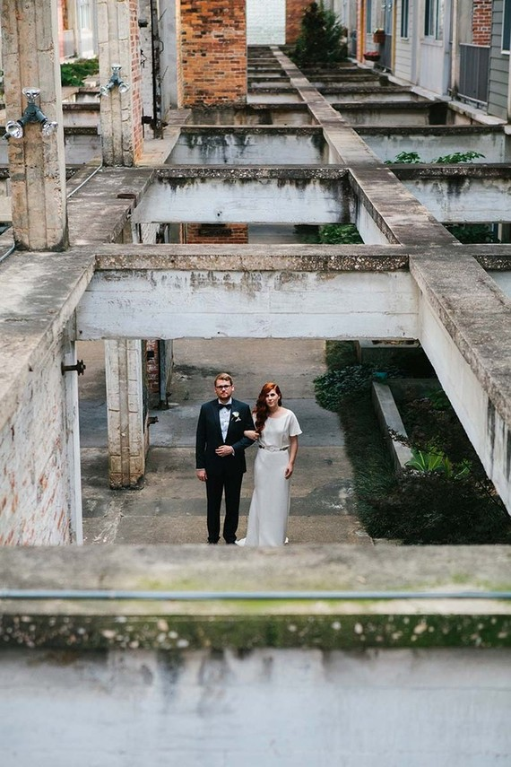 Industrial modern Atlanta wedding