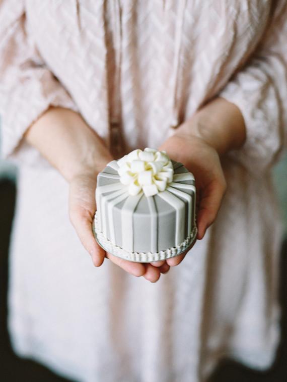 tiny grey cake