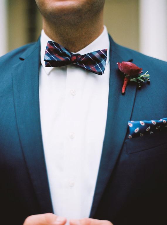 Jewel toned groom attire