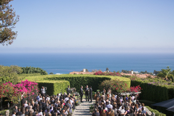 California wedding ceremony