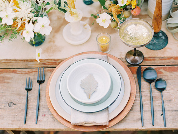 Vintage french country place setting