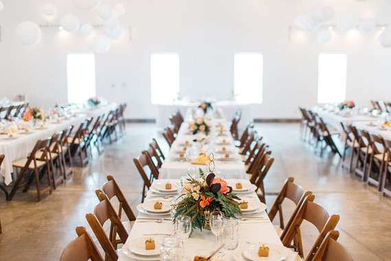 Vintage barn wedding reception