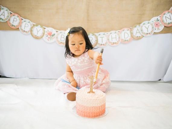 Feminine pink first birthday ideas