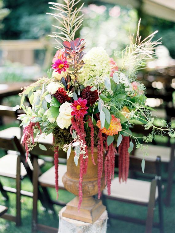 Bohemian wedding florals