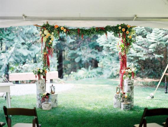 Bohemian wedding altar