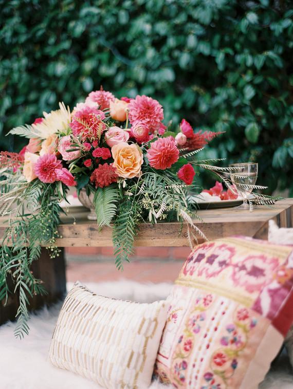 Spring wedding florals
