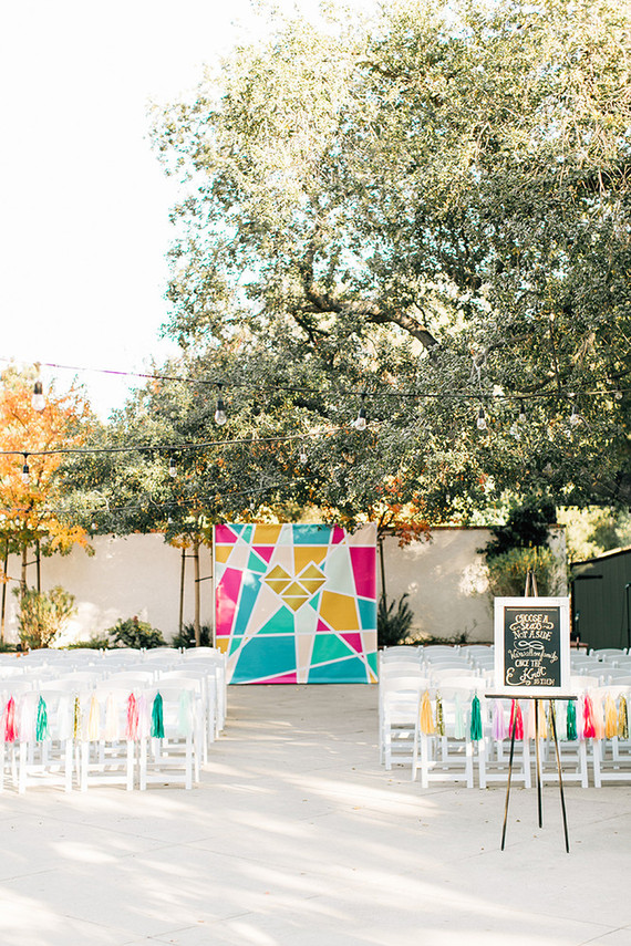 Colorful geometric ceremony