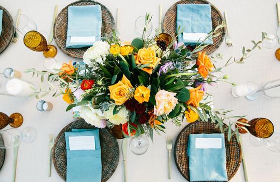 Spanish style wedding florals