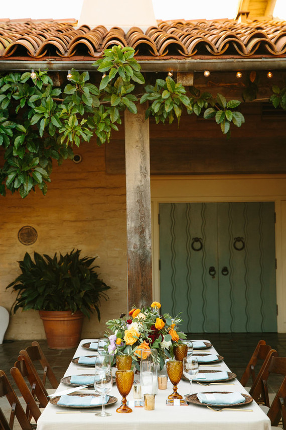 Spanish style wedding reception