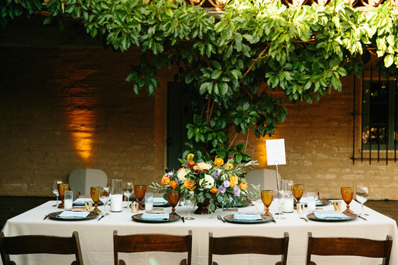 Spanish style wedding tablescape