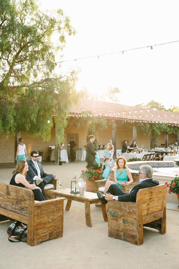 Spanish style lounge area