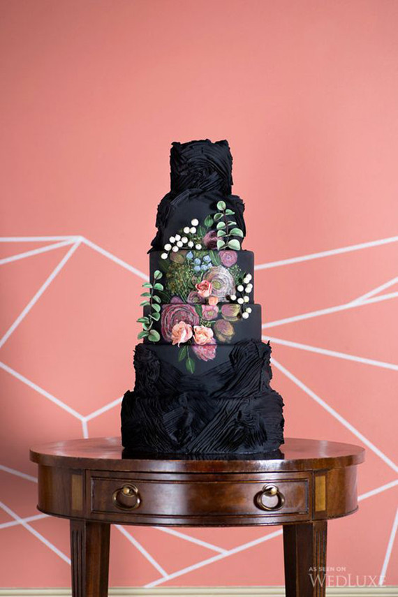 Black wedding cake ideas | Black wedding cakes | 100 Layer Cake