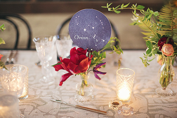 Astrology themed place cards