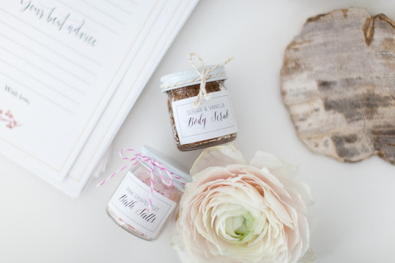 simple blush baby shower ideas