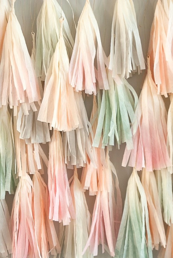 dip dyed tassels