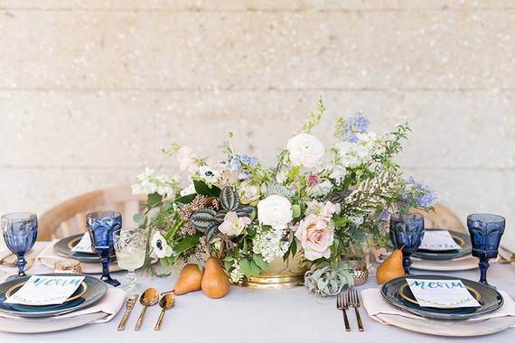 Spring wedding tablescape